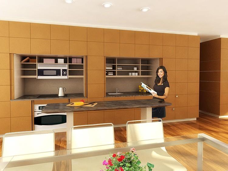 Фальшстена из огнеупорного гипсокартона на кухне в зоне плиты – разумная предосторожность