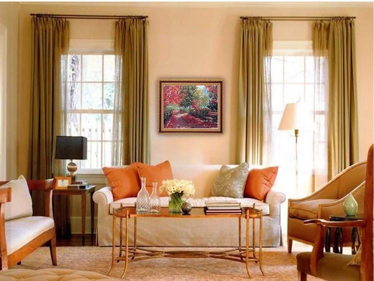 Персиковый цвет всегда придаст интерьеру нежности и тепла