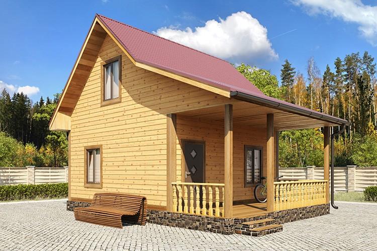 Домики, предназначенные для эксплуатации в тёплое время года, строятся из материала с меньшим поперечным сечением