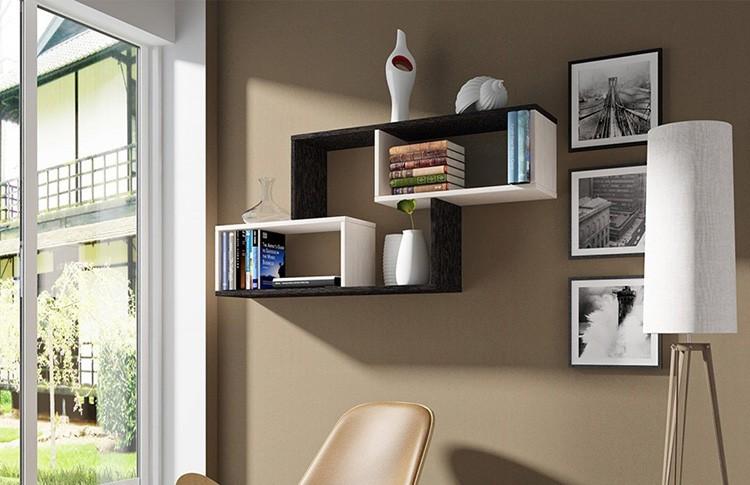 Полки – самая простая система хранения книг