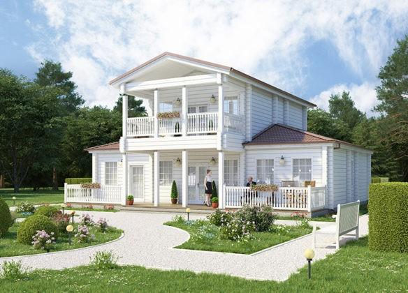 🔨 Деревянный дом под ключ: проекты экологичных строений из клееного бруса