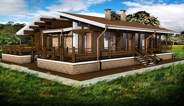 Площадь дома с одним этажом – важный критерий при зонировании внутреннего пространства