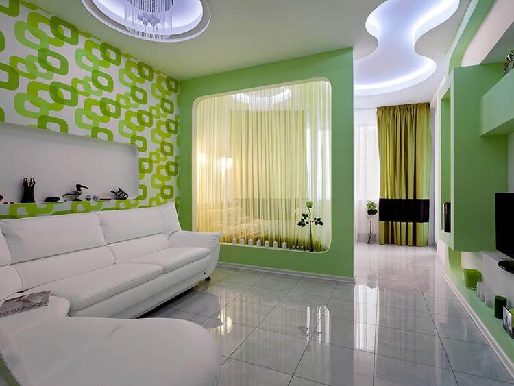 Дизайн спальни-гостиной 20 м²