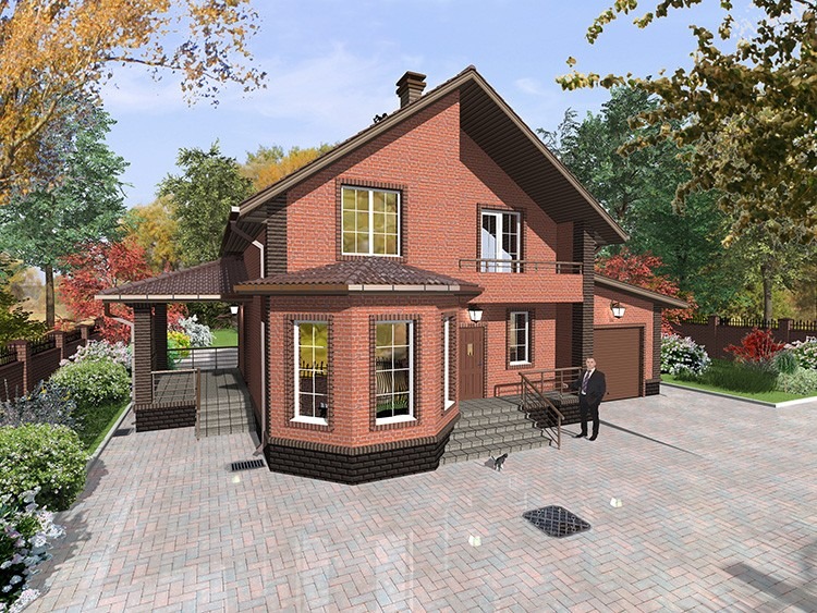 Для размещения строения требуется меньше места, чем для двух отдельно стоящих зданий