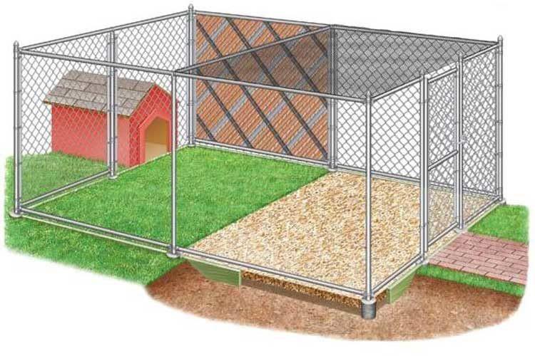 Сезонное собачье жильё в уличных условиях организовывают на открытом грунте или газоне. Здесь значение имеет размер будки, а площадь может быть равна рекомендуемой для породы или больше.