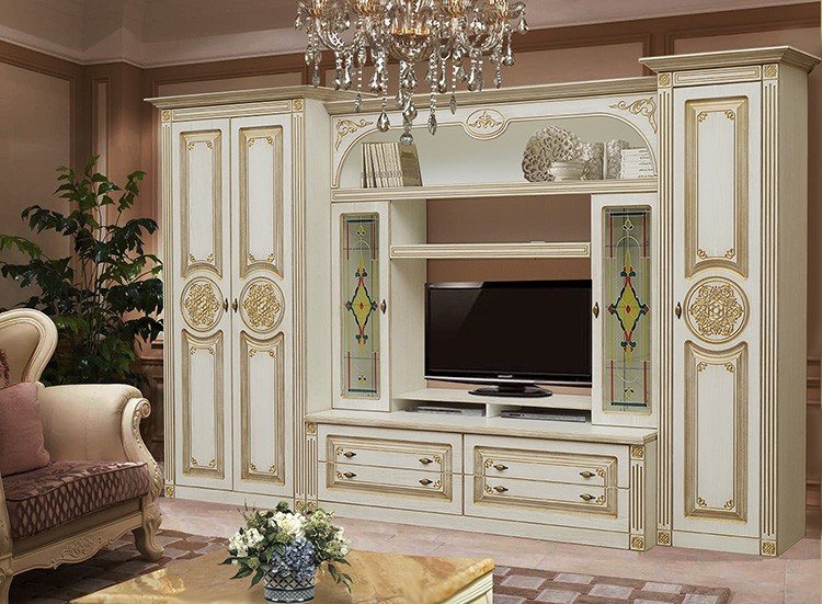 Фото стенки со шкафами в классическом стиле