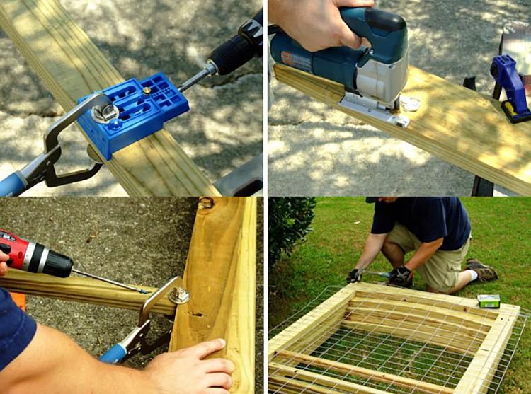 Если основа — брус, то стоит выбрать готовый формат металлической сетки.