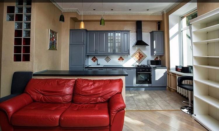 Объединение кухни, оснащённой газовой плитой, с жилой комнатой запрещено