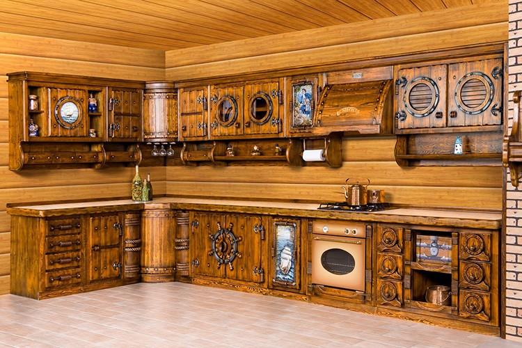 ⚒ Кухонные фасады из массива дерева: используемые материалы и неоспоримые преимущества