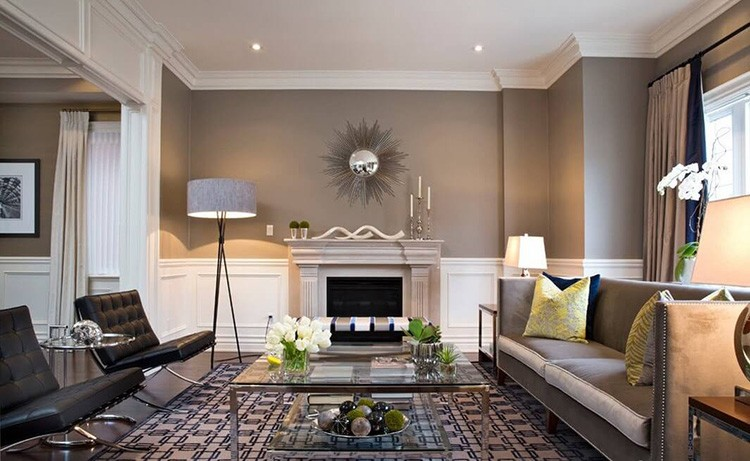 Для оформления интерьера в серо-бежевом цвете необходимо правильно подобрать отделочные материалы, мебель и текстиль