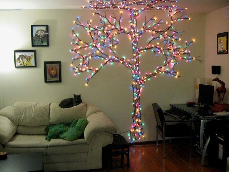 В комбинации с новогодней гирляндой этот объект может стать украшением комнаты