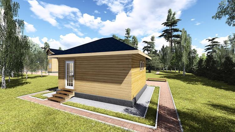 Площадь и конфигурация строения выбираются с учётом пожеланий членов семьи