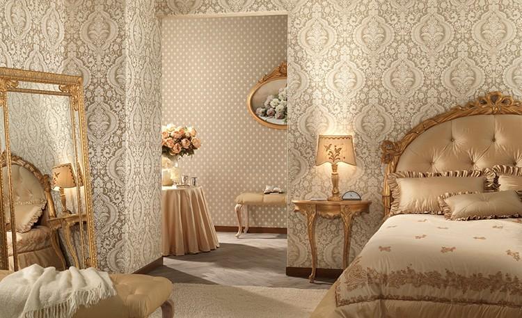 Стилистическое оформление спальни влияет на выбор обоев