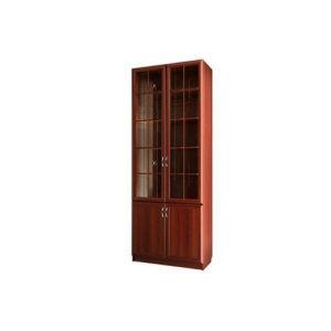 Шкаф для книг со стеклянными дверьми С 406 M («Волхова»)