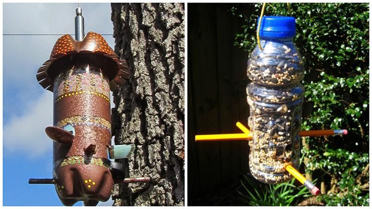 Кормушка из пластиковой бутылки — просто, удобно, быстро и безопасно.