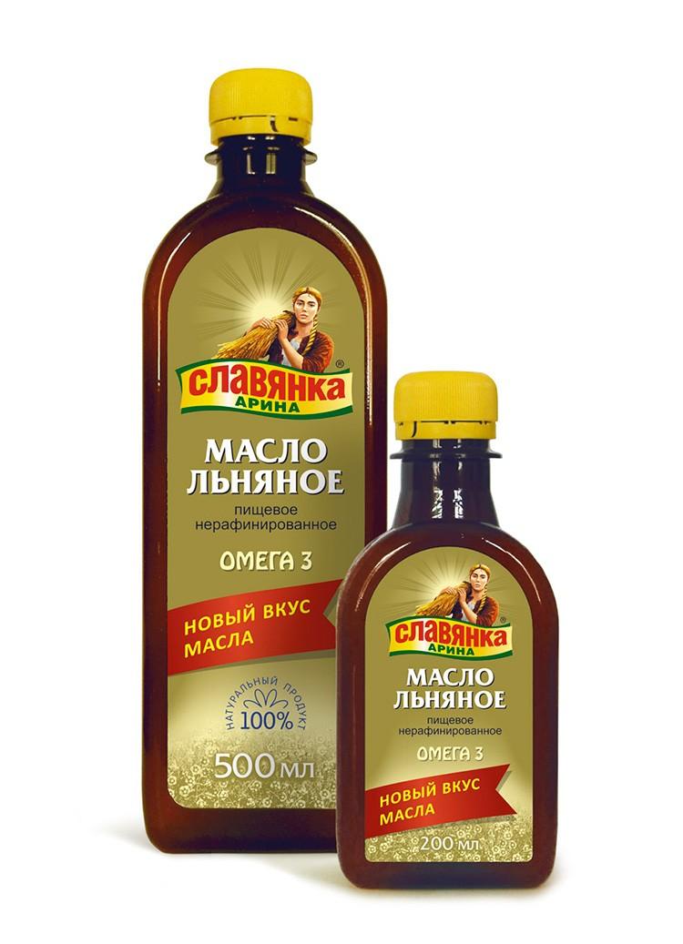 Масло льна приобретается в бутылочках, которых хватает надолго.