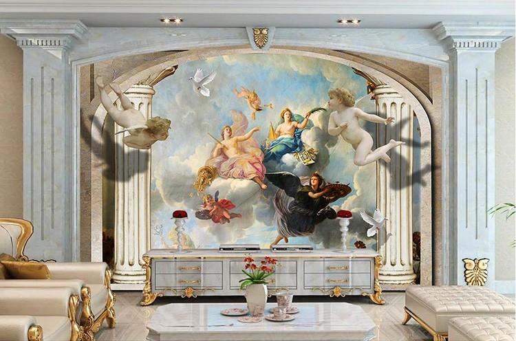 Так в гостиных и спальнях появлялись ангелочки и чувственные сюжеты с полотен Караваджо