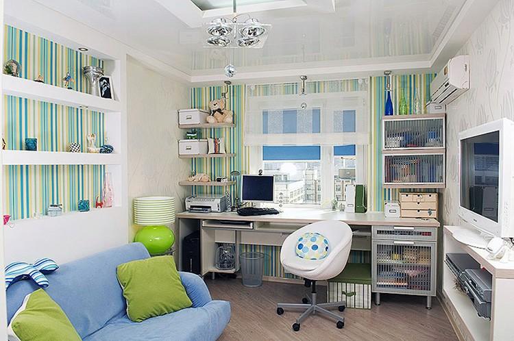 В комнате должно быть хорошо оборудованное рабочее место