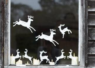 Трафареты украшений на окна к Новому году: как просто создать праздничную атмосферу своими руками