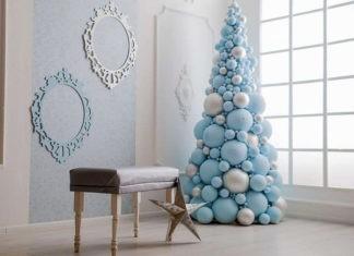 Невесомость и праздничность, или Почему так привлекает ёлка из воздушных шаров, изготовленная своими руками
