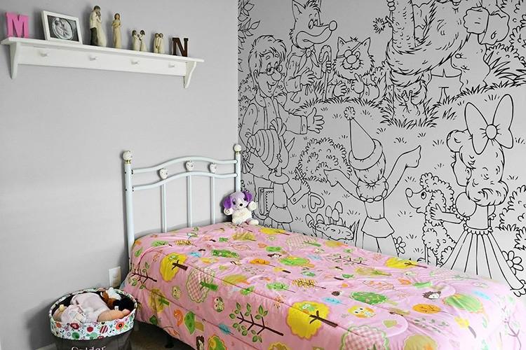 Самоклеящиеся обои-раскраски – отличный вариант для детской комнаты