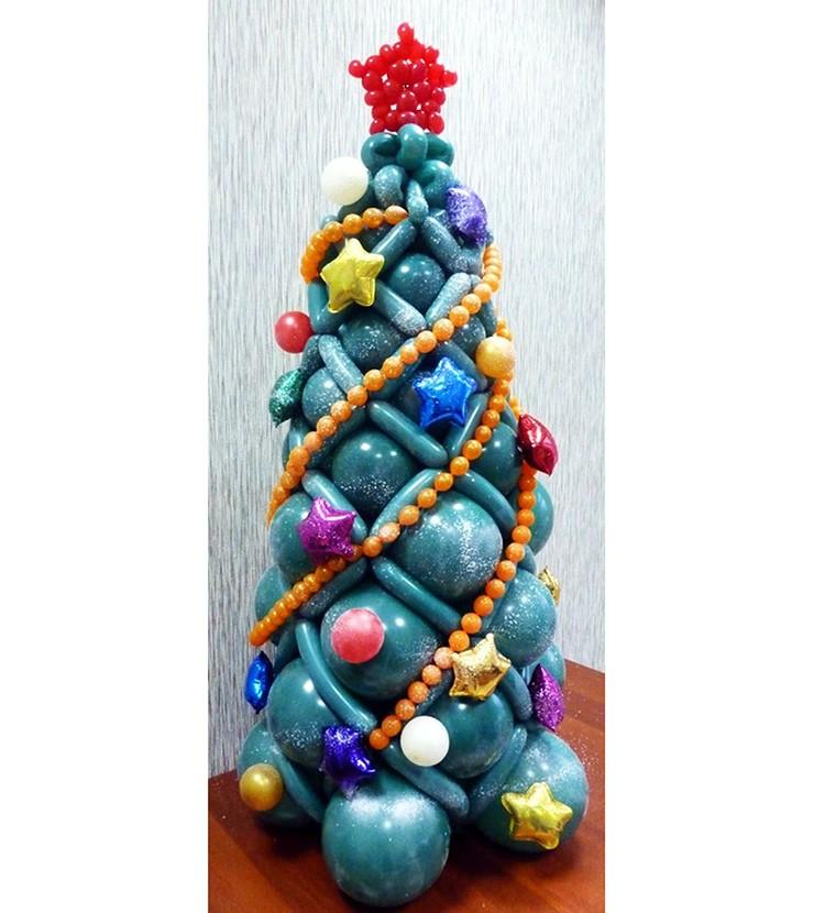 Круглые шары используют для изготовления основы, длинные – для украшения