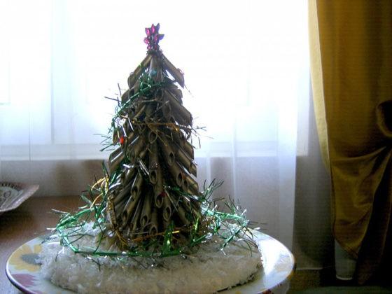 🎄 Экологичная и простая ёлка из макарон своими руками для тех, кто бережёт лес
