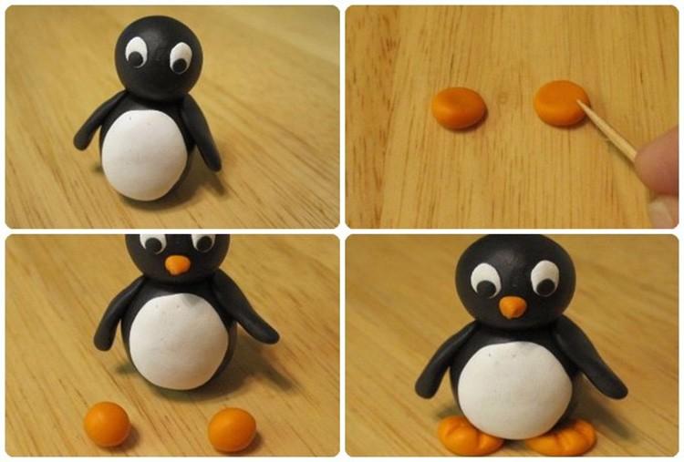 И школьники любят лепить пингвинчиков.