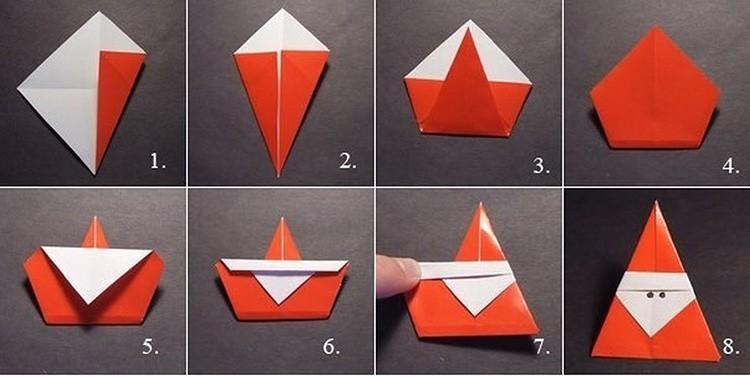 Маленький треугольный Дед Мороз обязательно должен оказаться на ёлочке.