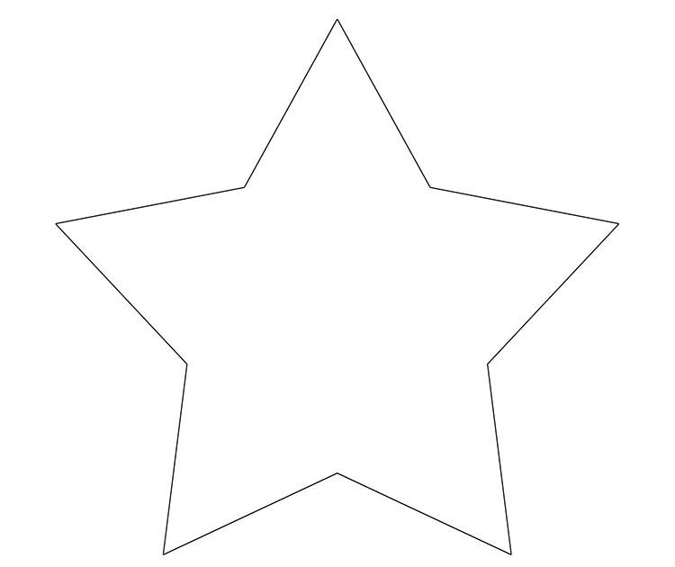 Стандартная пятиконечная звезда делается проще всего.