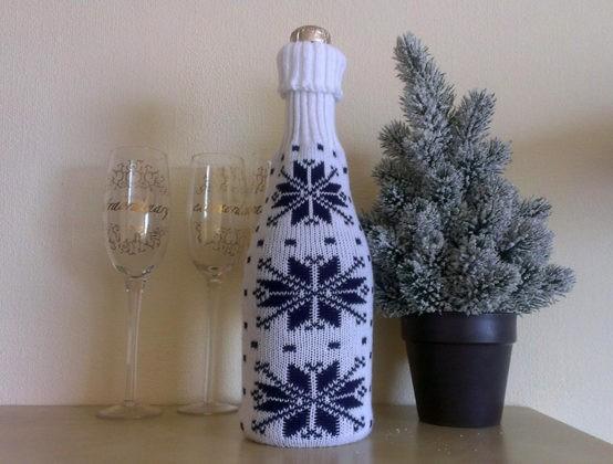 🍾 Бутылка к Новому Году своими руками: подарок к месту и ко времени
