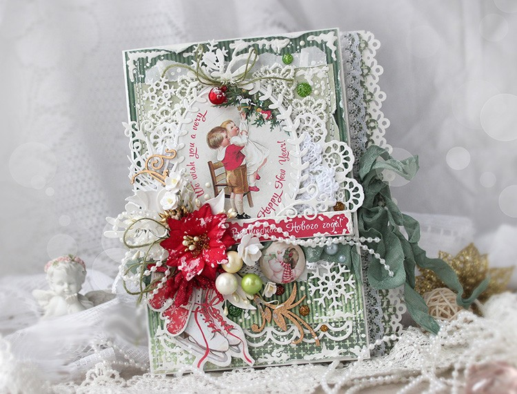 Фото открыток скрапбукинг новогодние, розами рисунок