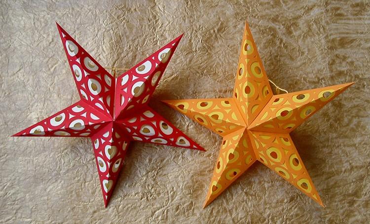 Бумажная звёздочка – красивое украшение