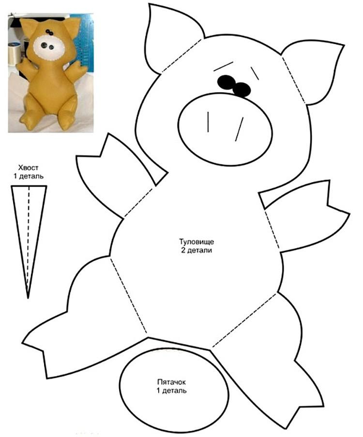 ✂ Выкройки для игрушек из фетра: уютный праздничный декор своими руками