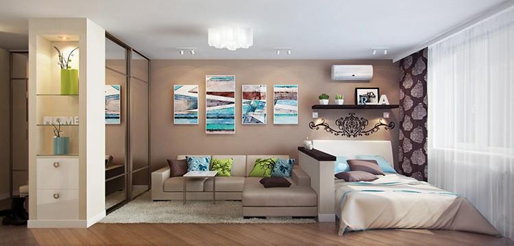 Модульные картины значительно меняют визуальное восприятие помещения.