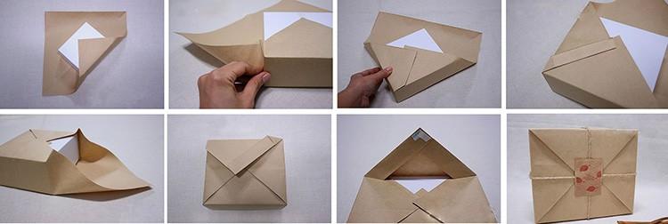 От последовательности упаковки зависит внешний вид подарка