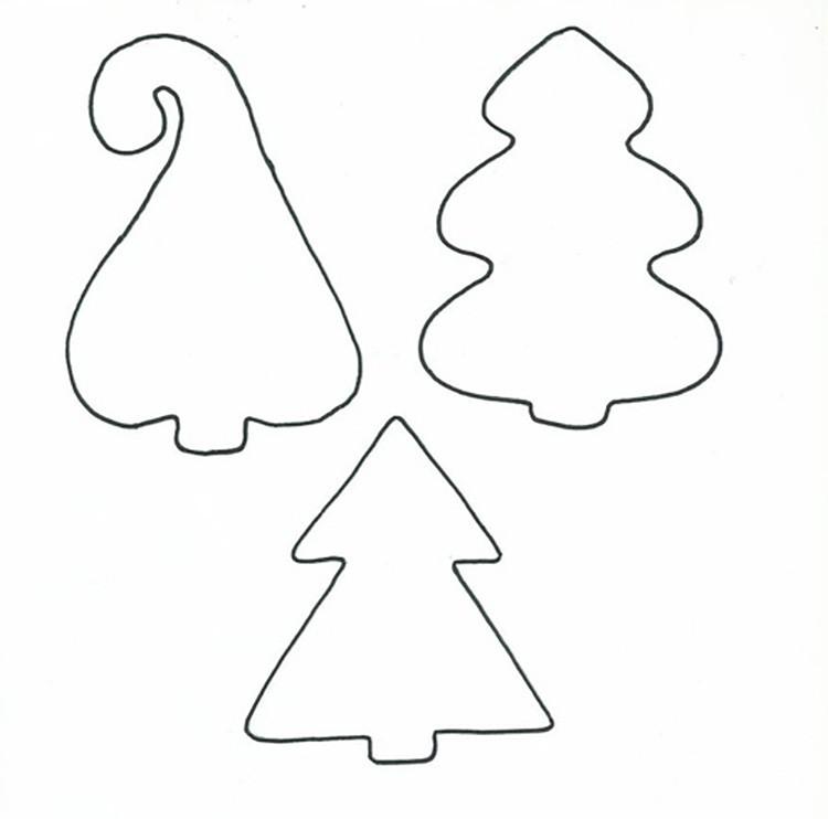 Разные по форме выкройки ёлки из фетра дают возможность соорудить необычную игрушку.
