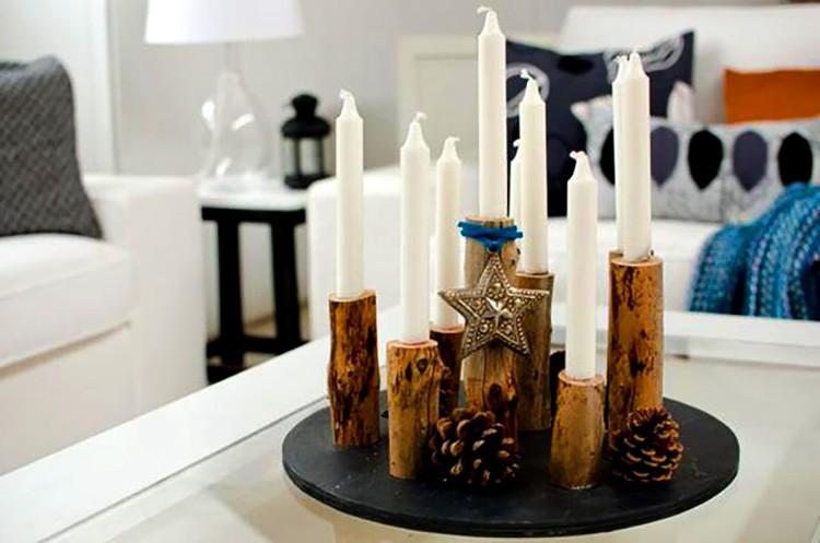 Если вырезать отверстие достаточной длины, то и свечи подойдут длинные.