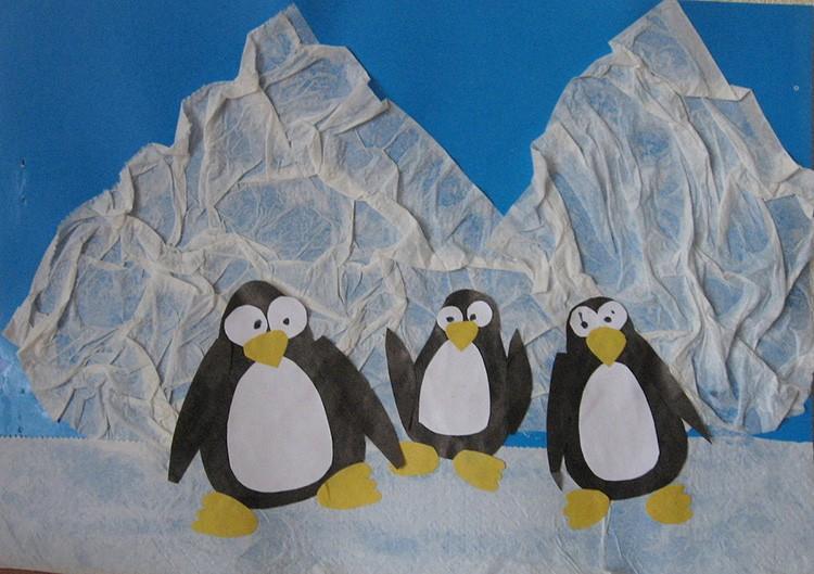 Салфетки позволяют создать иллюзию снега