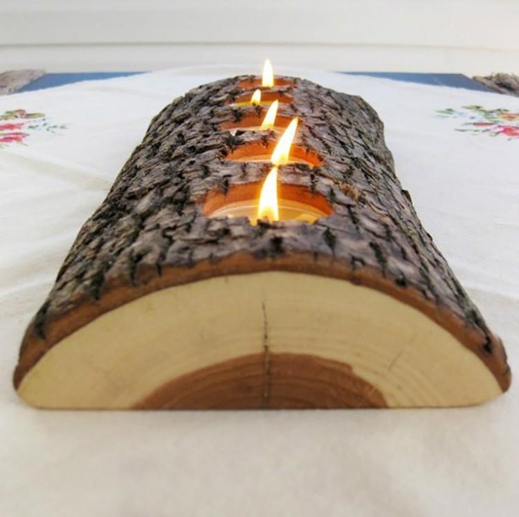 Такое поленце укладывают на камин или в центр новогоднего стола.
