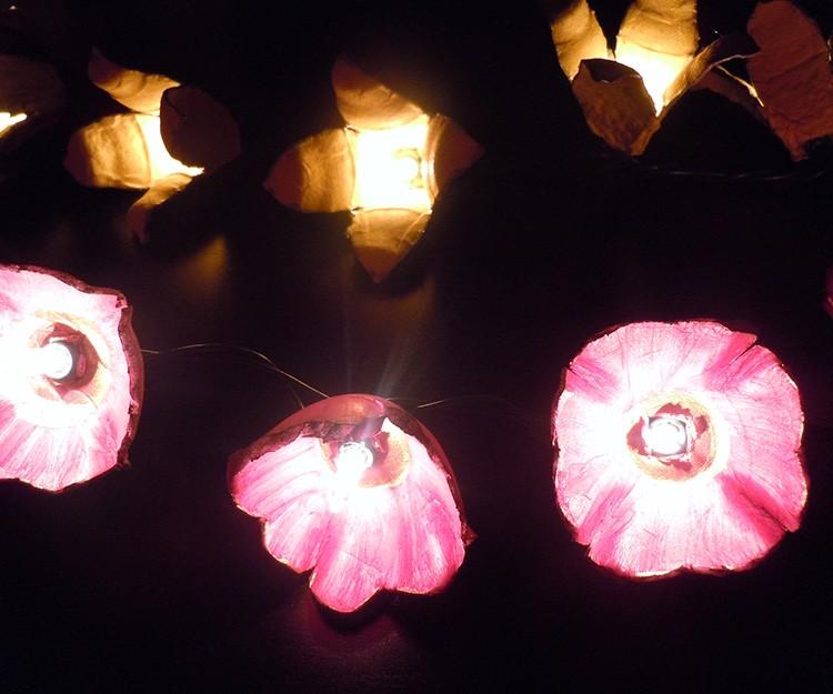 Декорирование светодиодной гирлянды можно выполнить своими руками