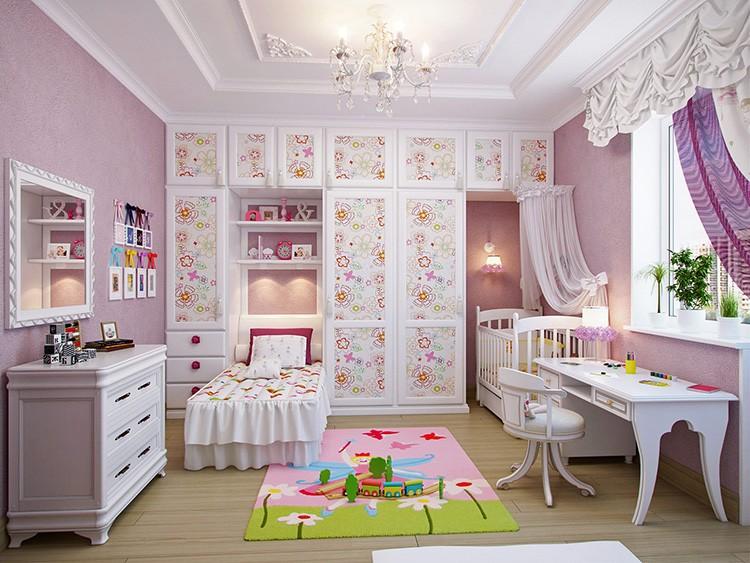 Если комната слишком длинная и узкая – расположите места для хранения в торцевой части