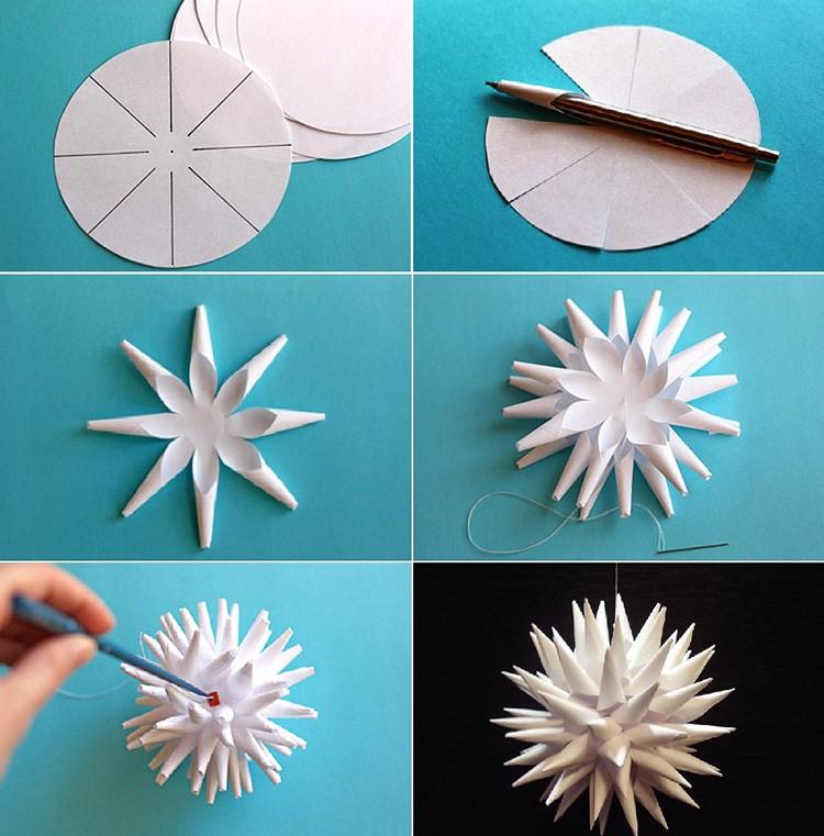 Пушистый шар сделать легко. Регулируя размер окружностей, можно увеличить или уменьшить конечный объём изделия.
