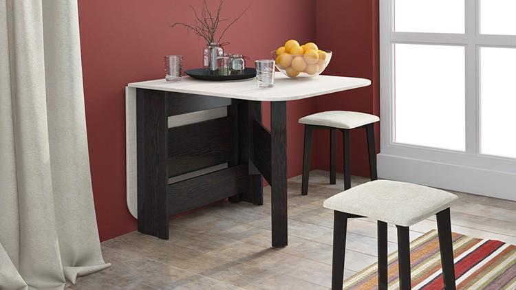 Раскладной стол – хорошее решение для маленькой кухни