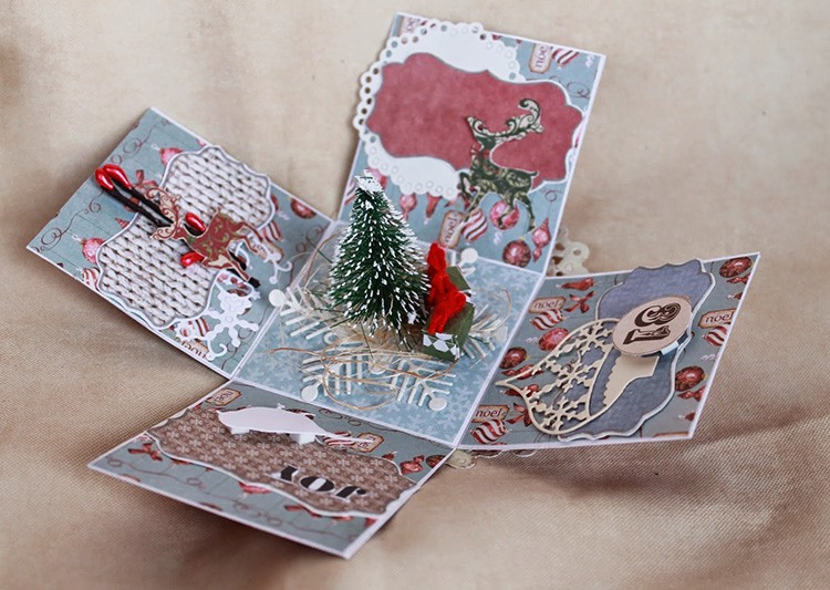 Коробка для новогоднего порядка может сама стать памятным сувениром