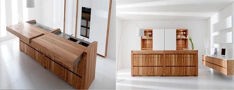 Раздвижной стол из массива – для маленьких кухонь не подойдёт