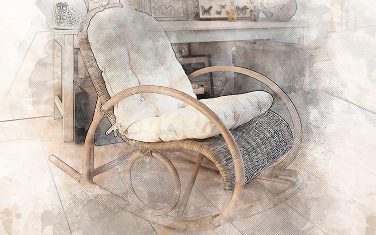 Как приятно отдыхать в кресле-качалке у камина зимними вечерами!