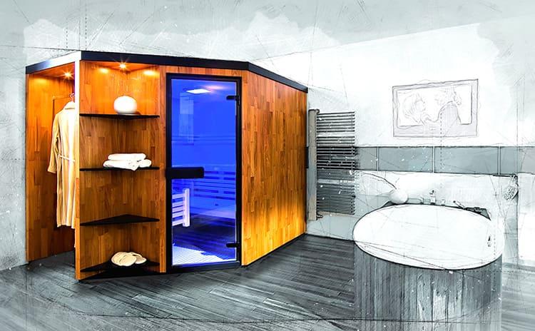 Домашняя сауна в совмещенном санузле городской квартиры