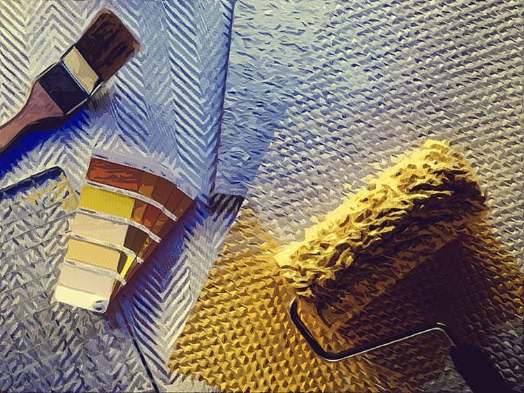 Современный интерьер отдаёт предпочтение покраске в оформлении стен