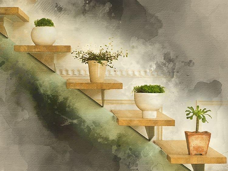 Даже небольшие горшки со свежей зеленью способны кардинально преобразить интерьер
